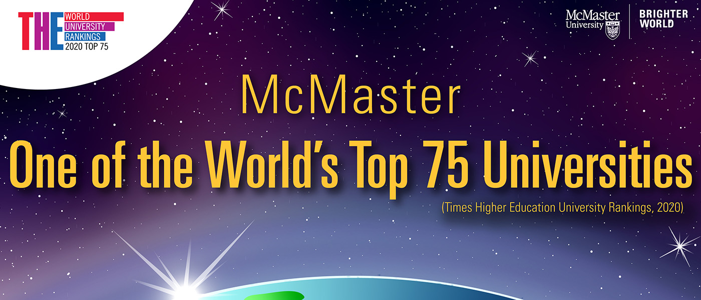 THE_McMaster one of the world's Top 75 universities