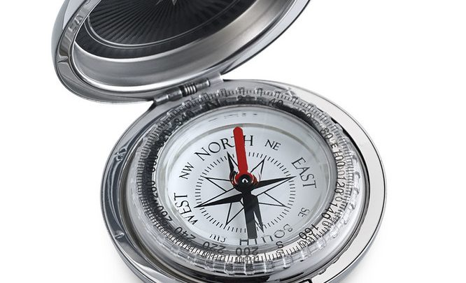 An open compass