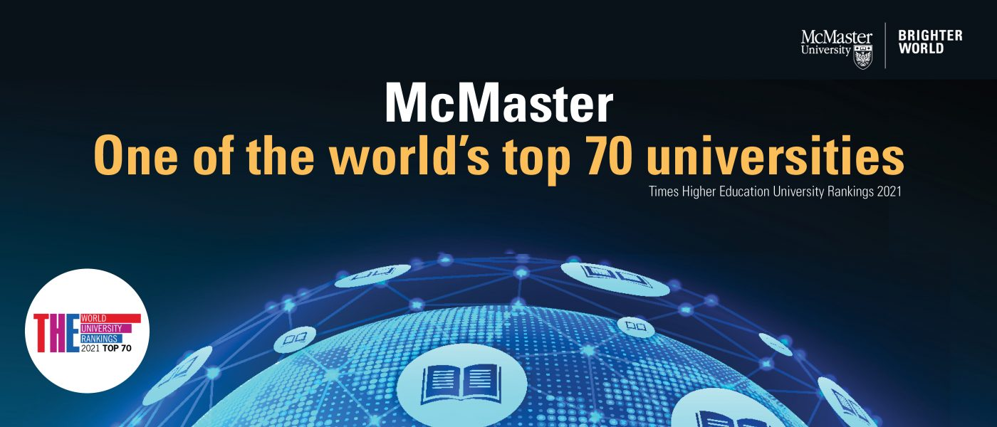 McMaster University is one of the world's top 70 universities.