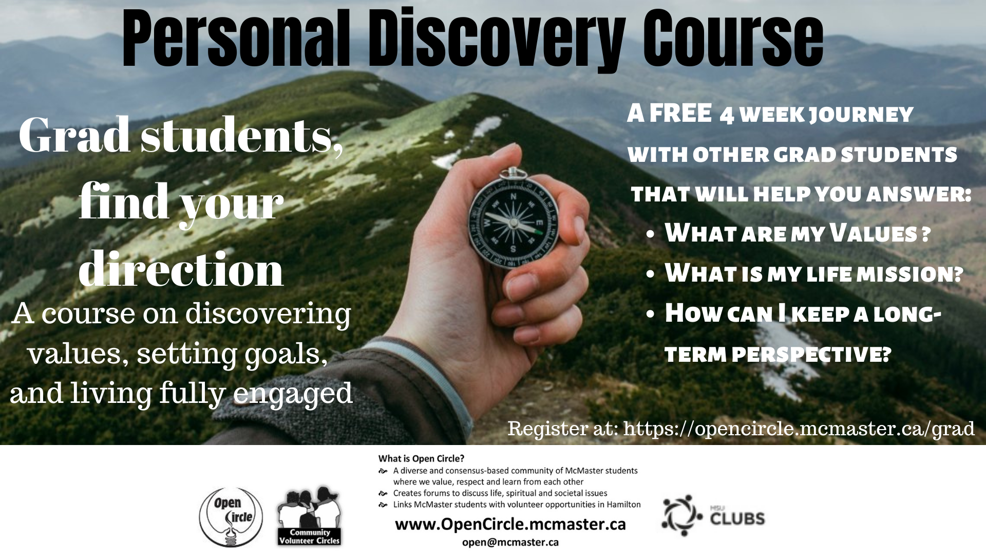 Personal Discovery Course for Grad Students