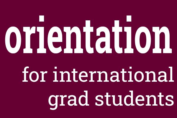 orientation event for international grad students
